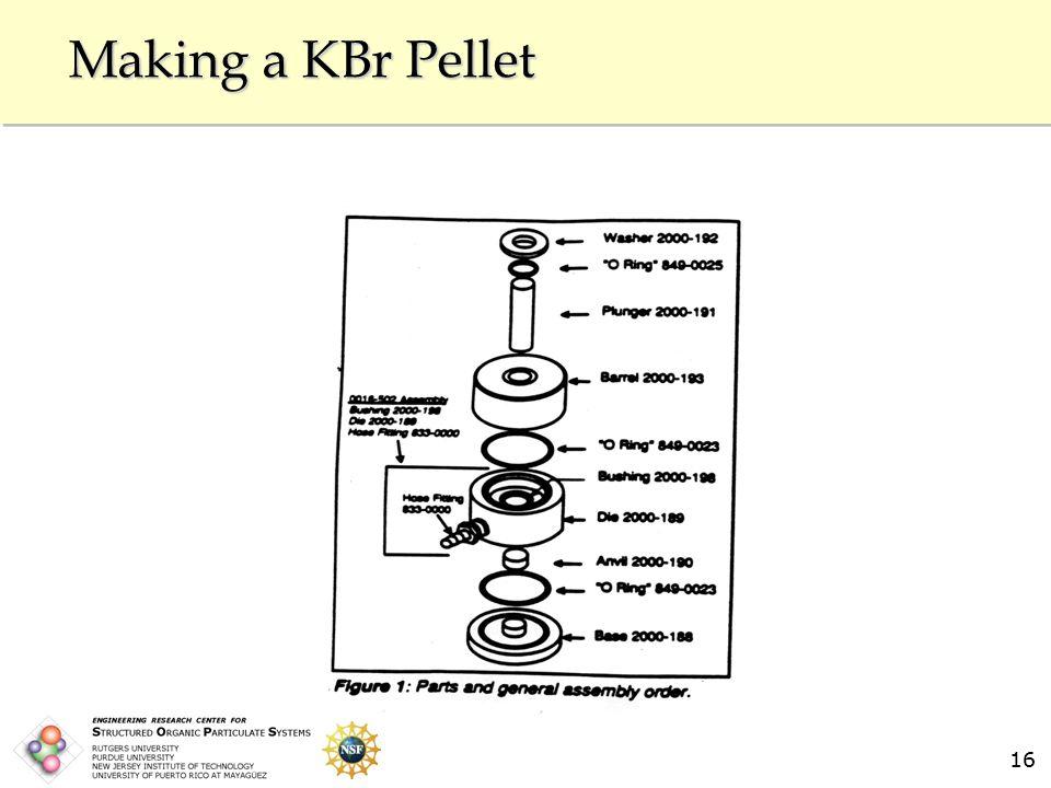 16 Making a KBr Pellet