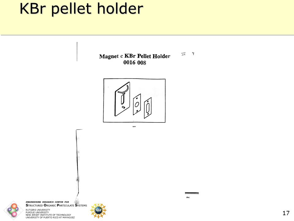 17 KBr pellet holder