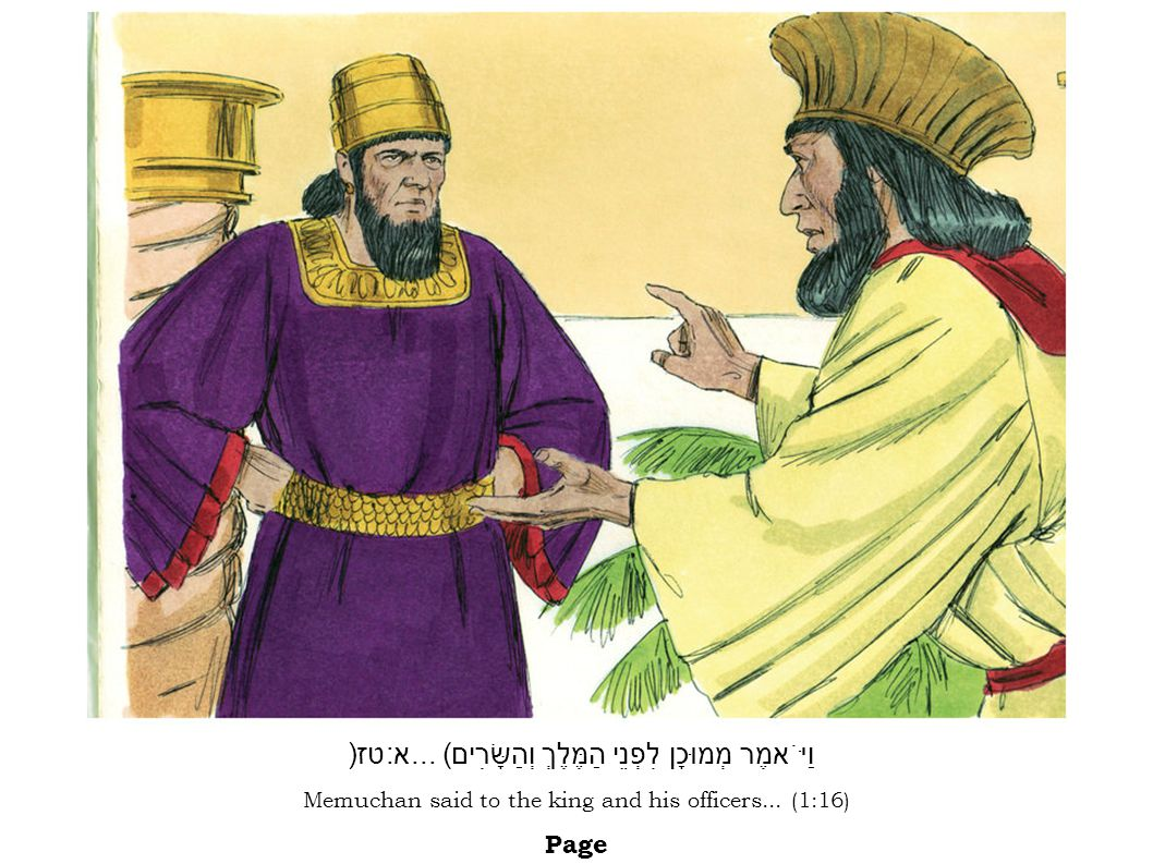 Esther once again spoke to the king.She fell to his feet, crying and begging him...