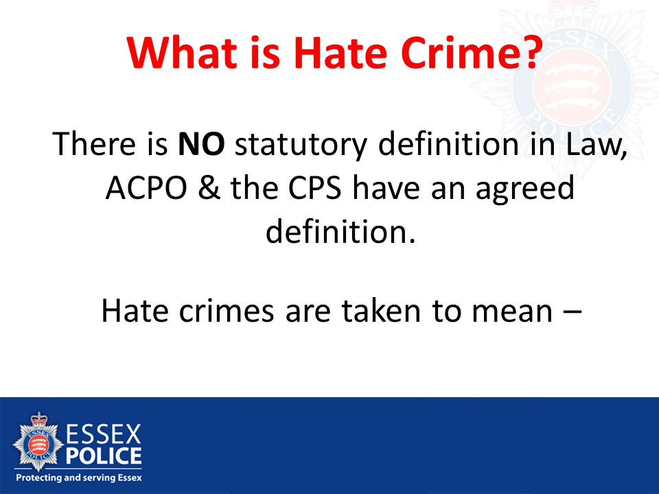 What is Hate Crime.