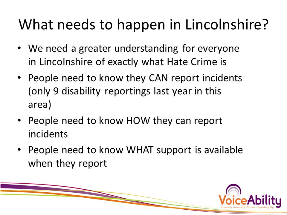 What needs to happen in Lincolnshire.