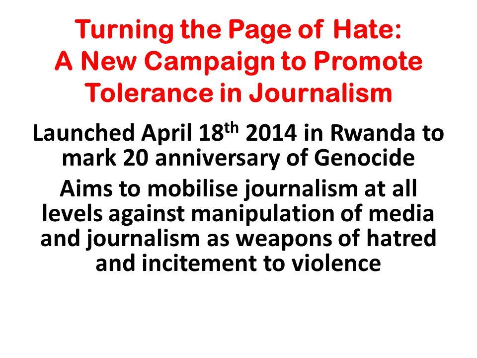 Case Study: Rwanda 1994: 800,000 Killed. Hate media helped organise slaughter