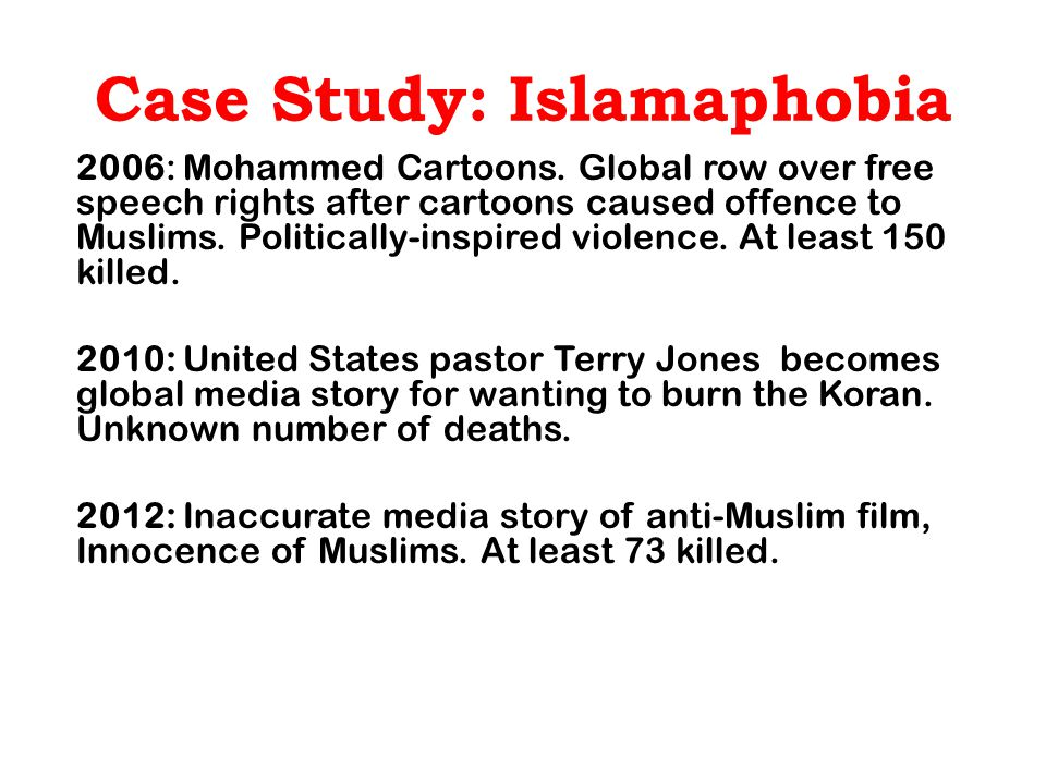 Islamophobia on the March Example of stereotype in context of global war on terror : a mob of wild-eyed men yelling, during anti-US protests over the infamous Innocence of Muslims Film in 2012.