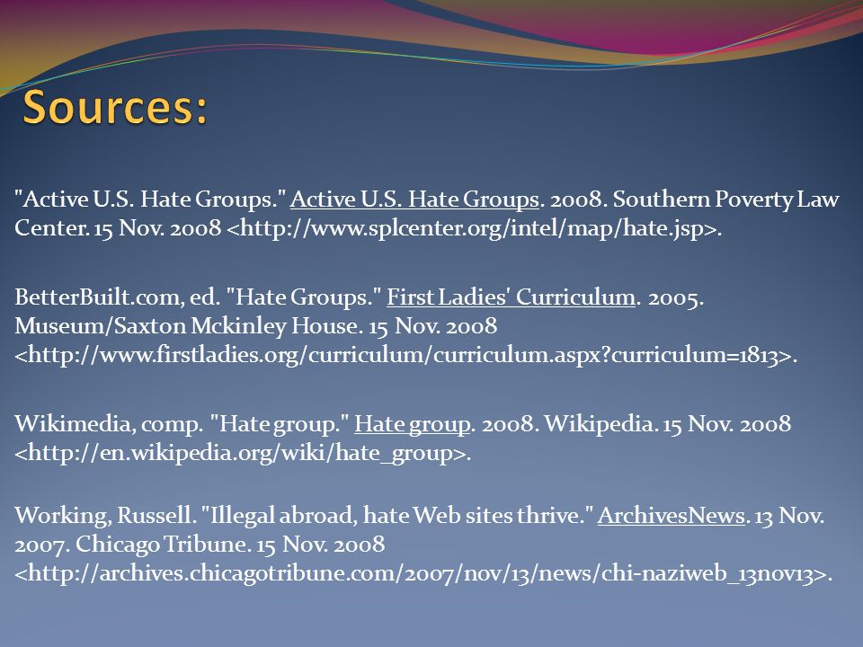 Active U.S. Hate Groups. Active U.S. Hate Groups.
