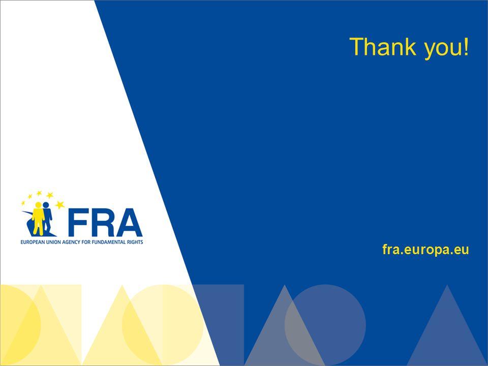 fra.europa.eu Thank you!
