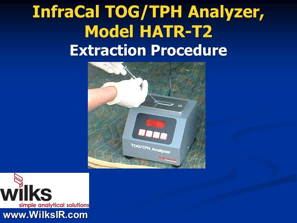 www.WilksIR.com InfraCal TOG/TPH Analyzer, Model HATR-T2 Extraction Procedure