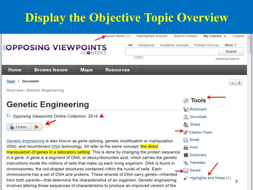 10 Display & Tweak the Citation in MLA Style Works Cited Genetic Engineering. Opposing Viewpoints Online Collection.