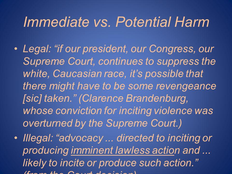 Immediate vs.