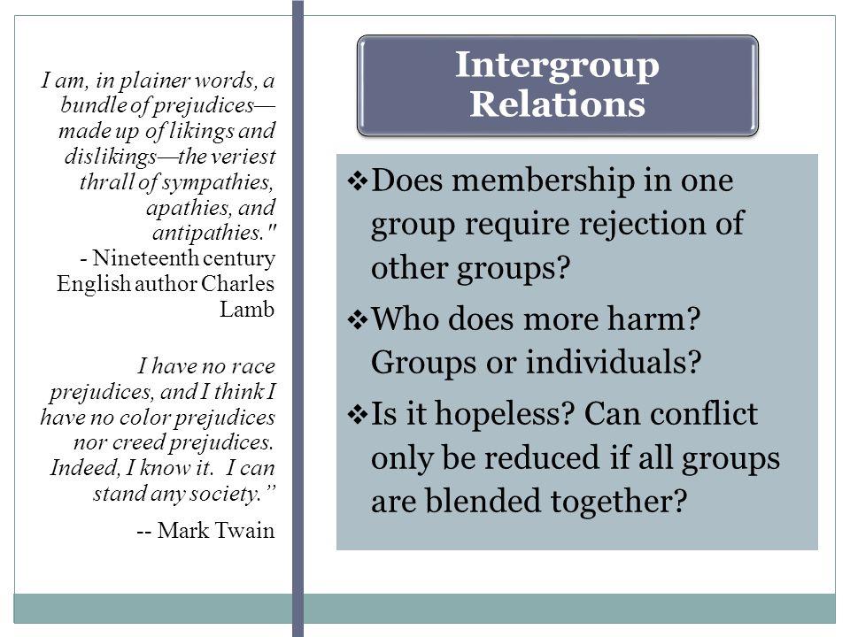 What Interpersonal Factors Disrupt Relations Between Groups.