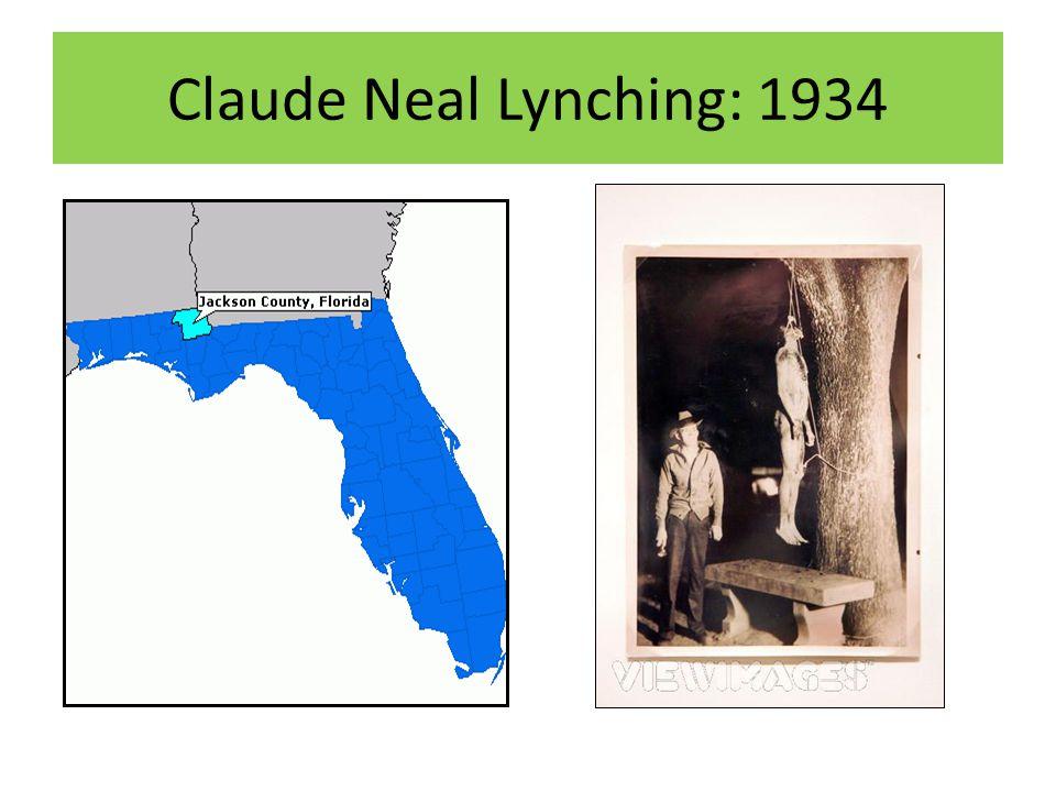 Claude Neal Lynching: 1934