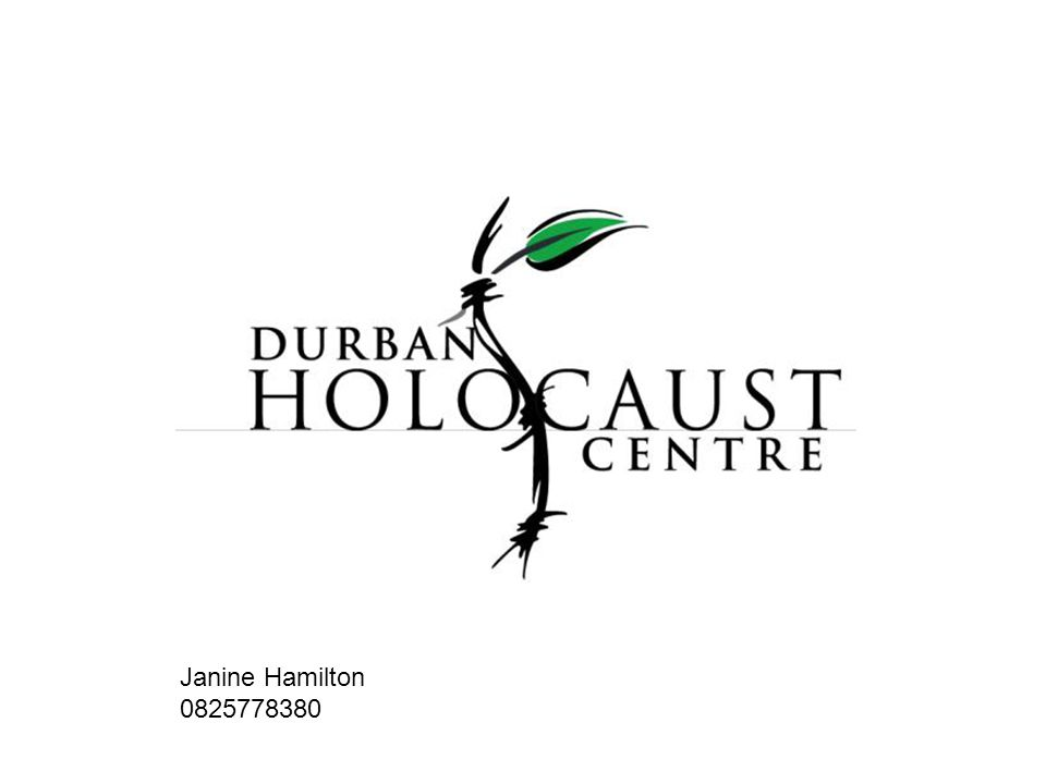 This presentation illustrates how the Durban Holocaust Centre attempts to build a bridge between a history far removed in time, space and place, from most of the learners who visit the Centre, to the present realities of the learner.