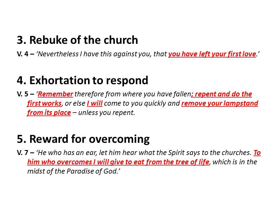 3. Rebuke of the church V.