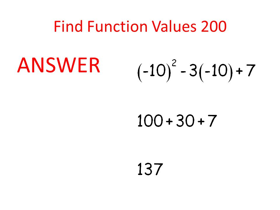 Find Function Values 300 Part 1: Find m(7) Part 2: If m(x) = -4, find all values of x