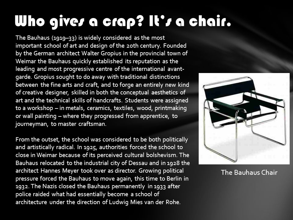 Who gives a crap. It's a chair.
