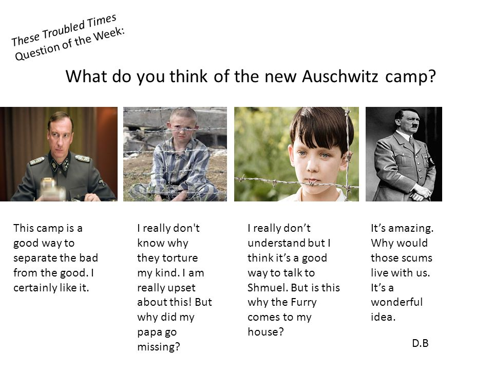 These Troubled Times Question of the Week: What do you think of the new Auschwitz camp.