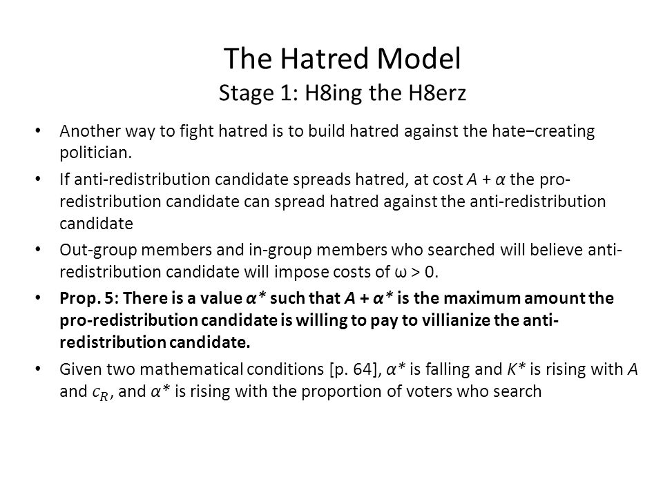 The Hatred Model Stage 1: H8ing the H8erz