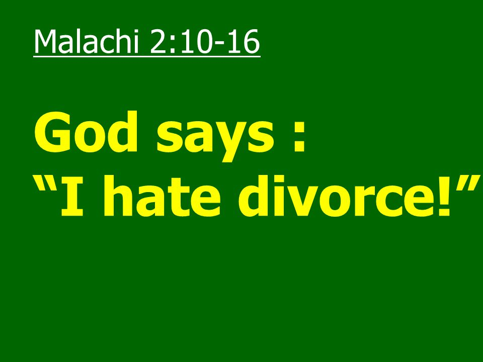 Jesus' teaching on Marriage 1.Marriage is a divine institution (Matthew 19:6 – … God has joined together … ).