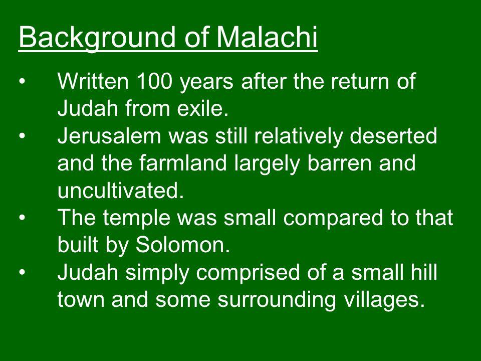 Malachi 2:11 11 Judah has broken faith.