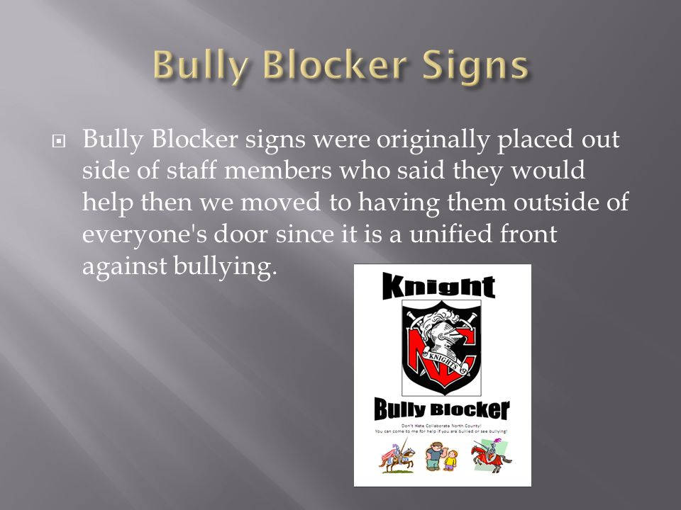  I have presented at facility meetings to help our staff recognize the difference between bullying and peer joking or conflict.