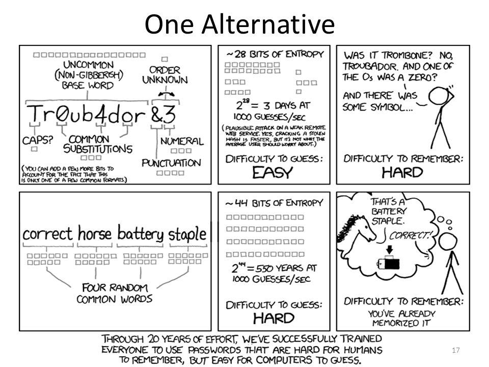 One Alternative 17