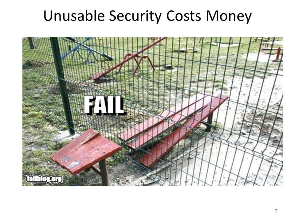 Unusable Security Costs Money 7