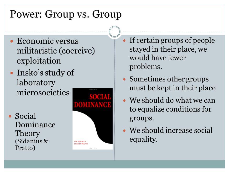 Power: Group vs.