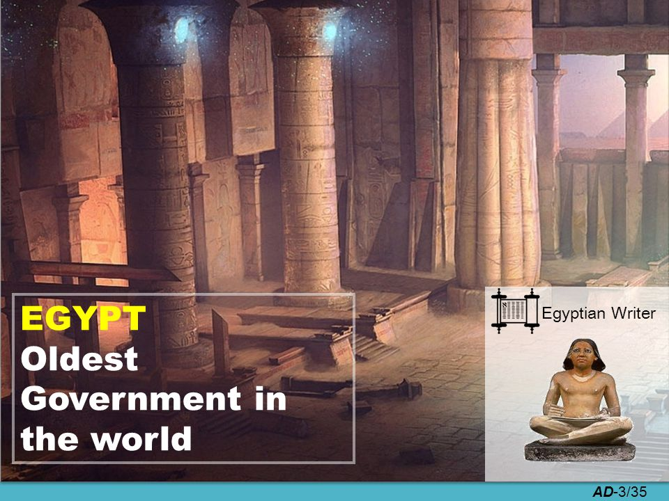 AD-3/35 EGYPT Oldest Government in the world Egyptian Writer