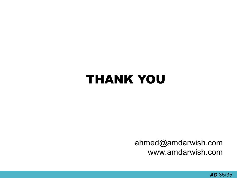 AD-35/35 THANK YOU ahmed@amdarwish.com www.amdarwish.com