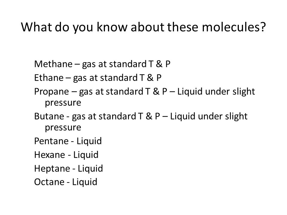What do you know about these molecules.