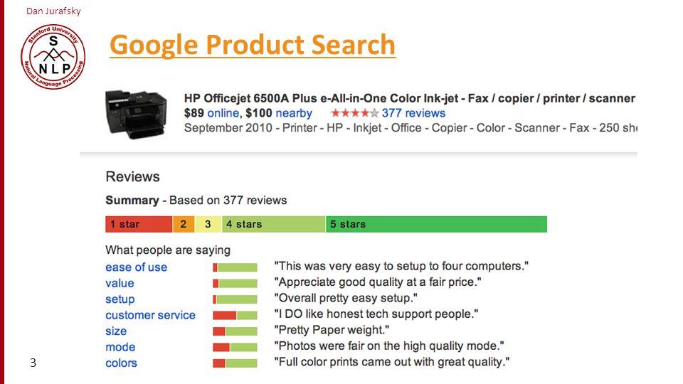 Dan Jurafsky Google Product Search a 3