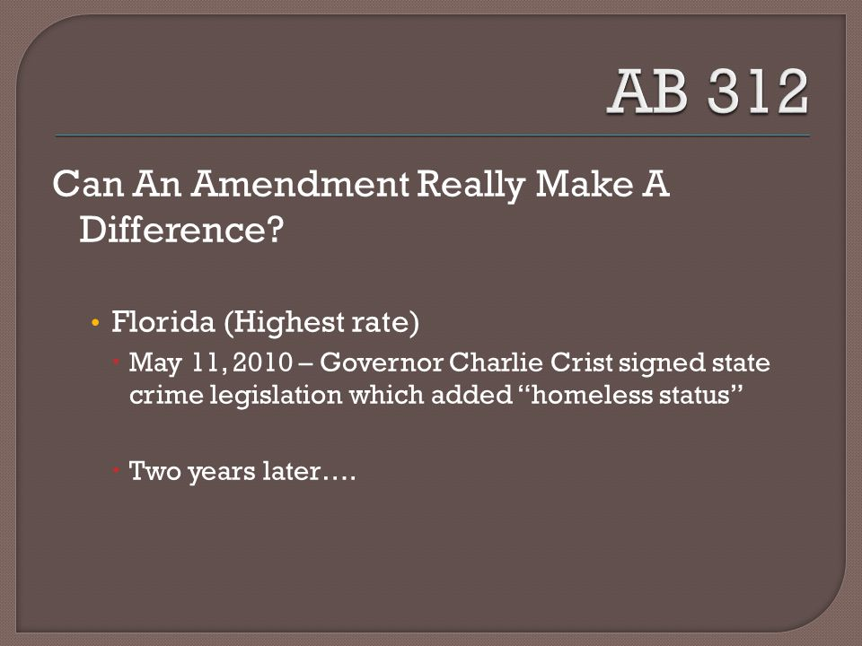 Can An Amendment Really Make A Difference.