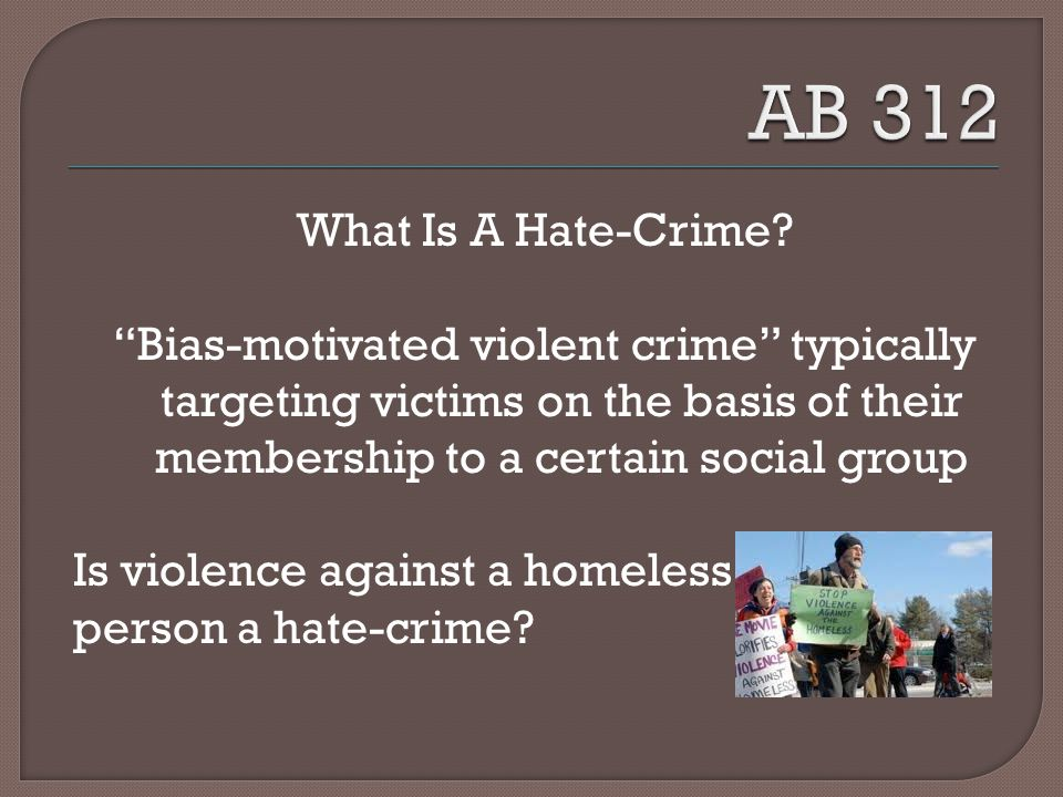 What Is A Hate-Crime.