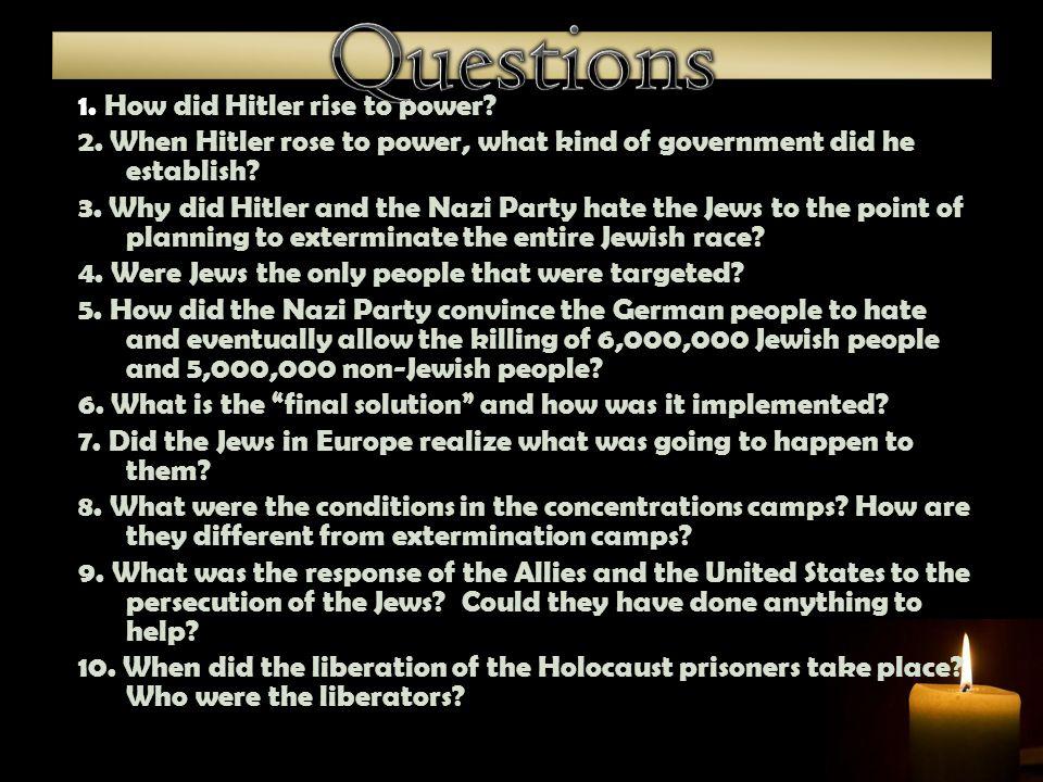  1.Ghetto  2. SS  3. Auschwitz  4. Aryan race:  5.