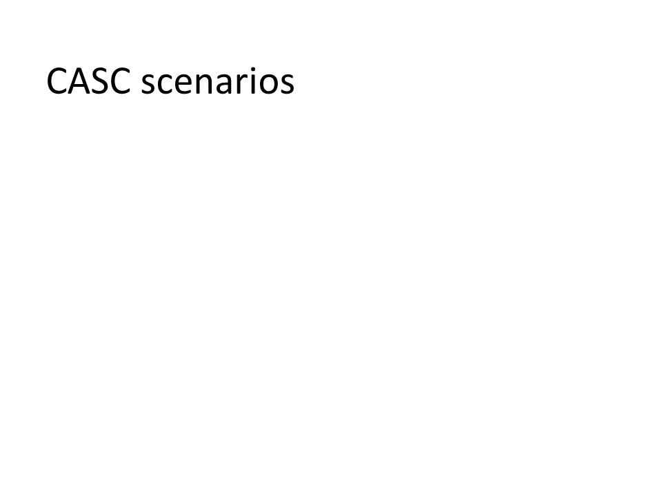 CASC scenarios