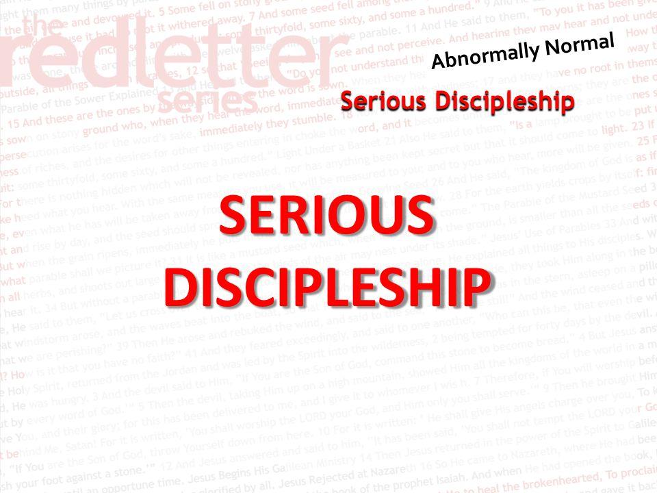 SERIOUSDISCIPLESHIP