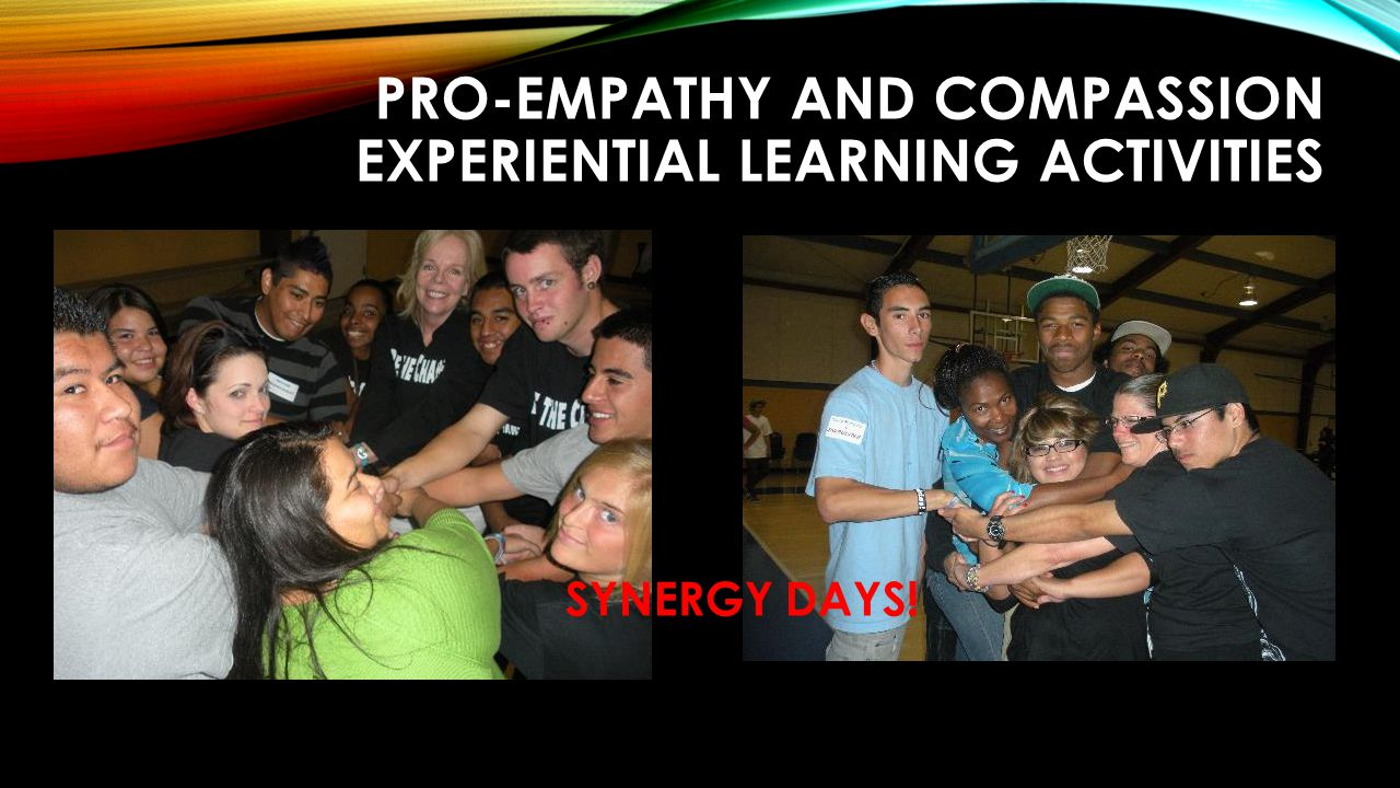 PRO-EMPATHY AND COMPASSION EXPERIENTIAL LEARNING ACTIVITIES SYNERGY DAYS!