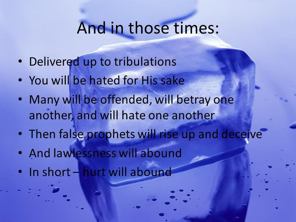 Protected from hurt? Luke 16:33 Romans 5:1-5 Romans 8:35-37 Romans 12