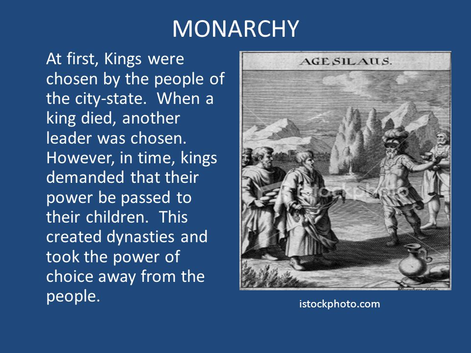 How did governments and monarchies establish themselves in ancient times?