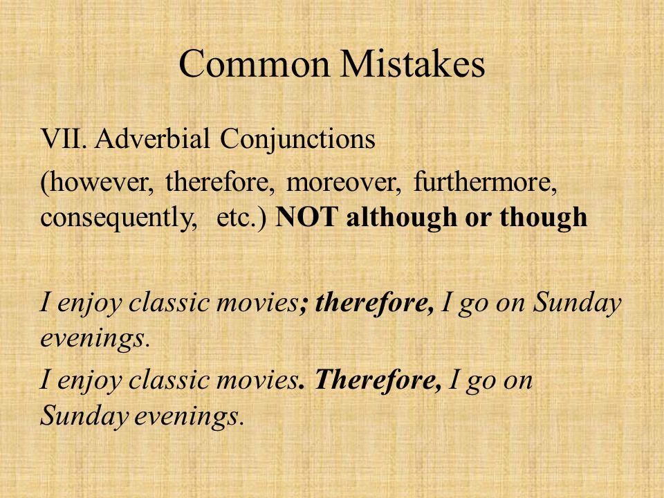 Common Mistakes VII.