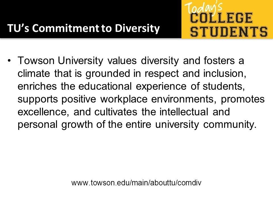 TU's Commitment to Diversity