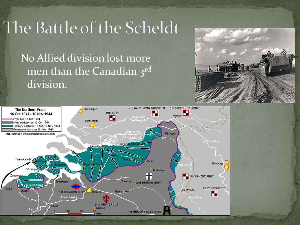 No Allied division lost more men than the Canadian 3 rd division.