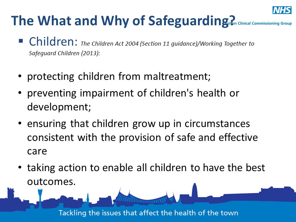 The What and Why of Safeguarding.