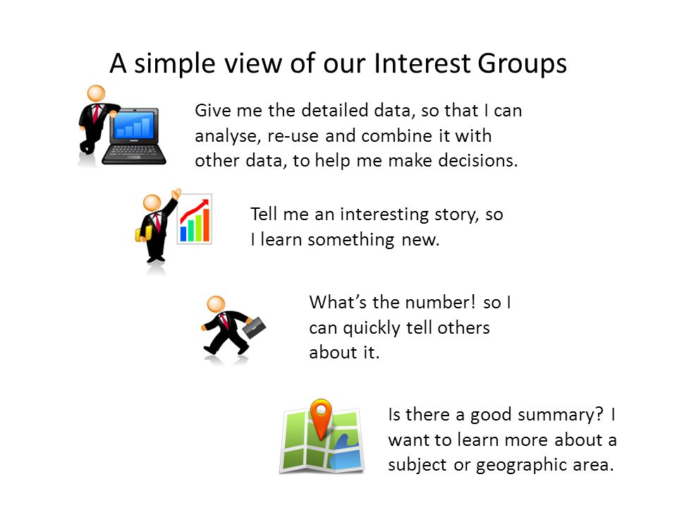 Give me the detailed data, so that I can analyse, re-use and combine it with other data, to help me make decisions.