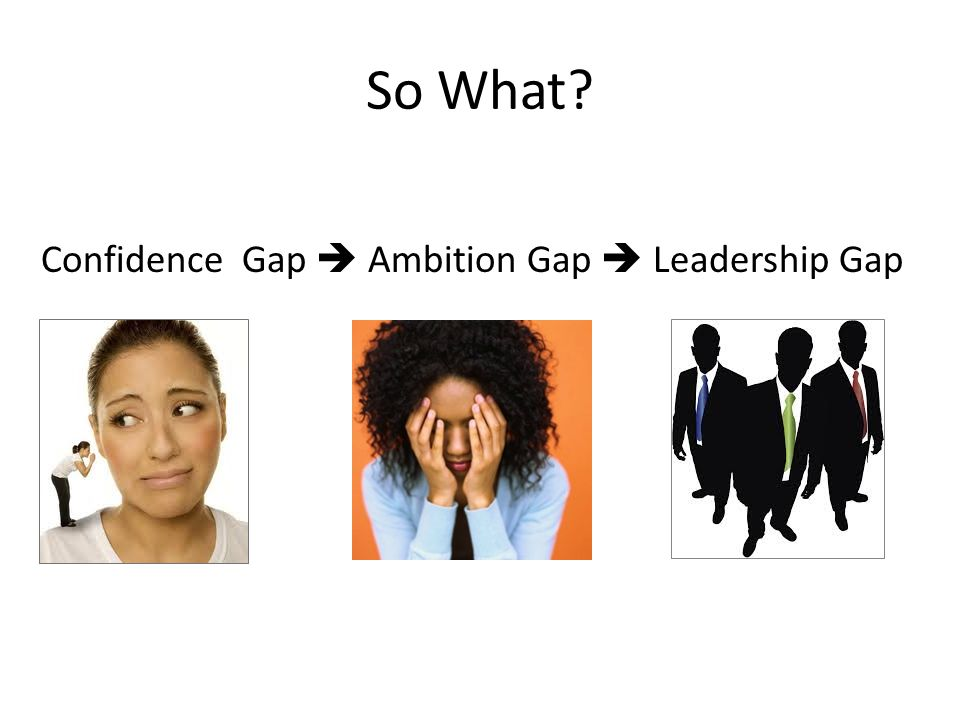 The Confidence Gap Men overestimate their abilities and performance, and women underestimate both (Ehrlinger, 2012).