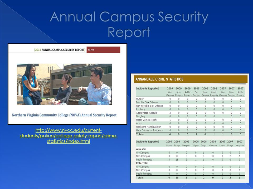 http://www.nvcc.edu/current- students/police/college-safety-report/crime- statistics/index.html