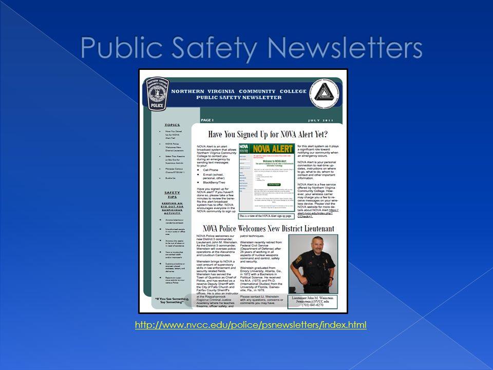 http://www.nvcc.edu/police/psnewsletters/index.html