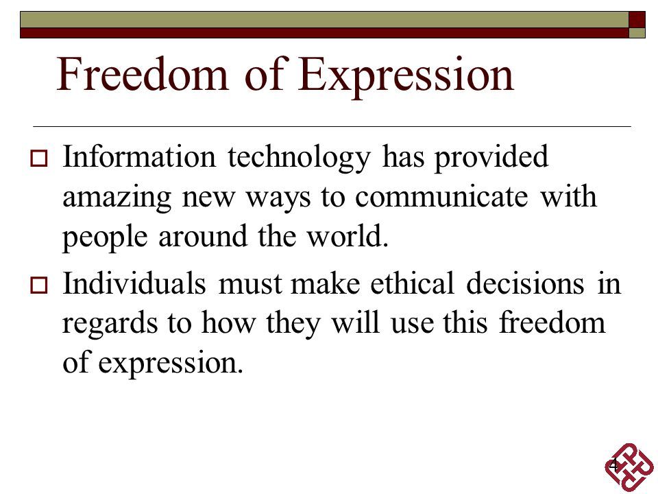 5 The term freedom of expression.