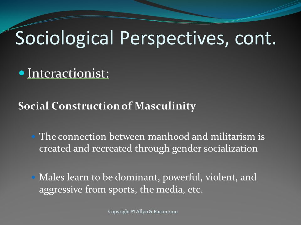 Copyright © Allyn & Bacon 2010 Sociological Perspectives, cont.