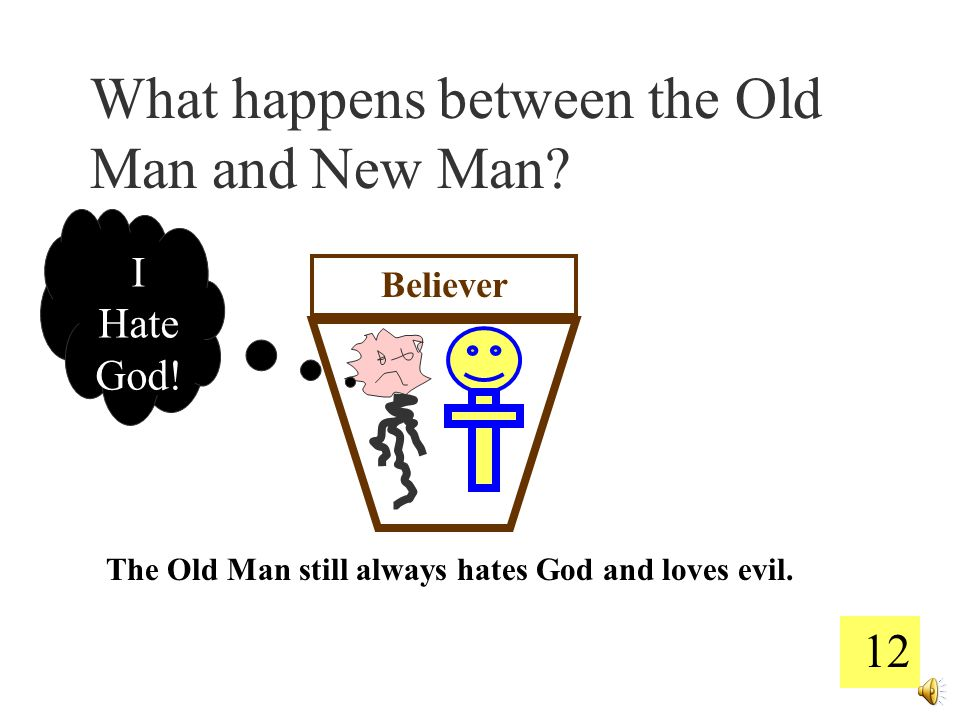 11 Believer God uses Law to cut down the old man. God uses Gospel to build up the new man.
