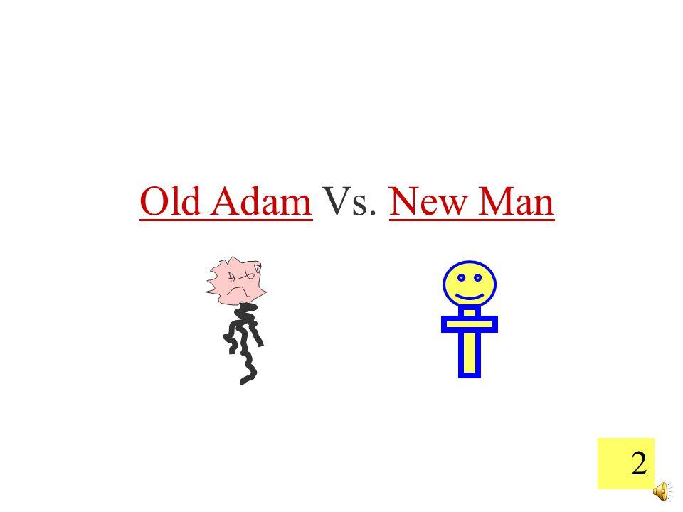 2 Old Adam Vs. New Man